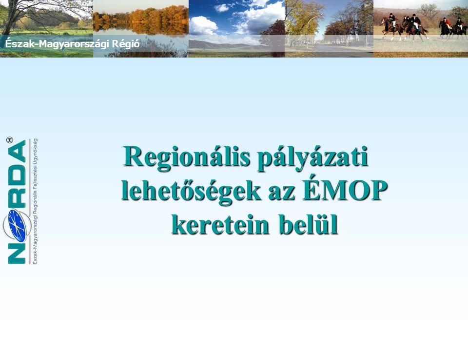 Észak-Magyarországi Régió Regionális pályázati lehetőségek az ÉMOP keretein belül