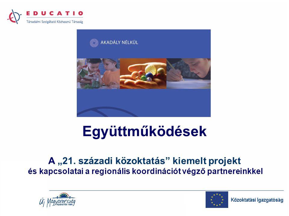 Az áttekintés vázlata Helyünk a TÁMOP konstrukciók rendszerében A program struktúrája: a kilenc pillér Kapcsolati elemek régiós partnereinkkel