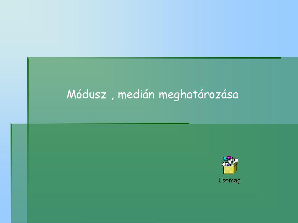 Módusz, medián meghatározása