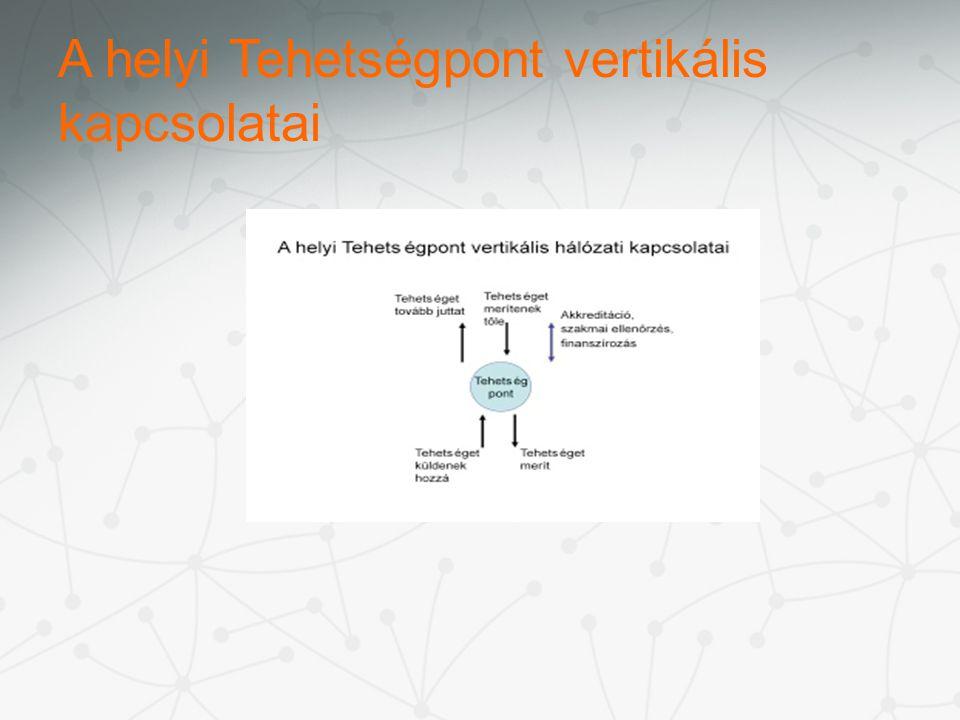 A helyi Tehetségpont vertikális kapcsolatai