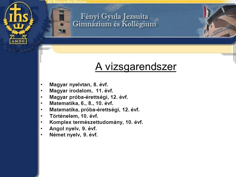A vizsgarendszer Magyar nyelvtan, 8. évf. Magyar irodalom, 11.