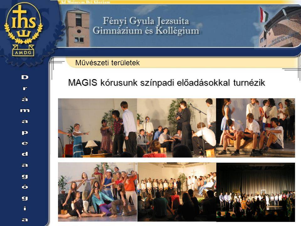 Művészeti területek MAGIS kórusunk színpadi előadásokkal turnézik