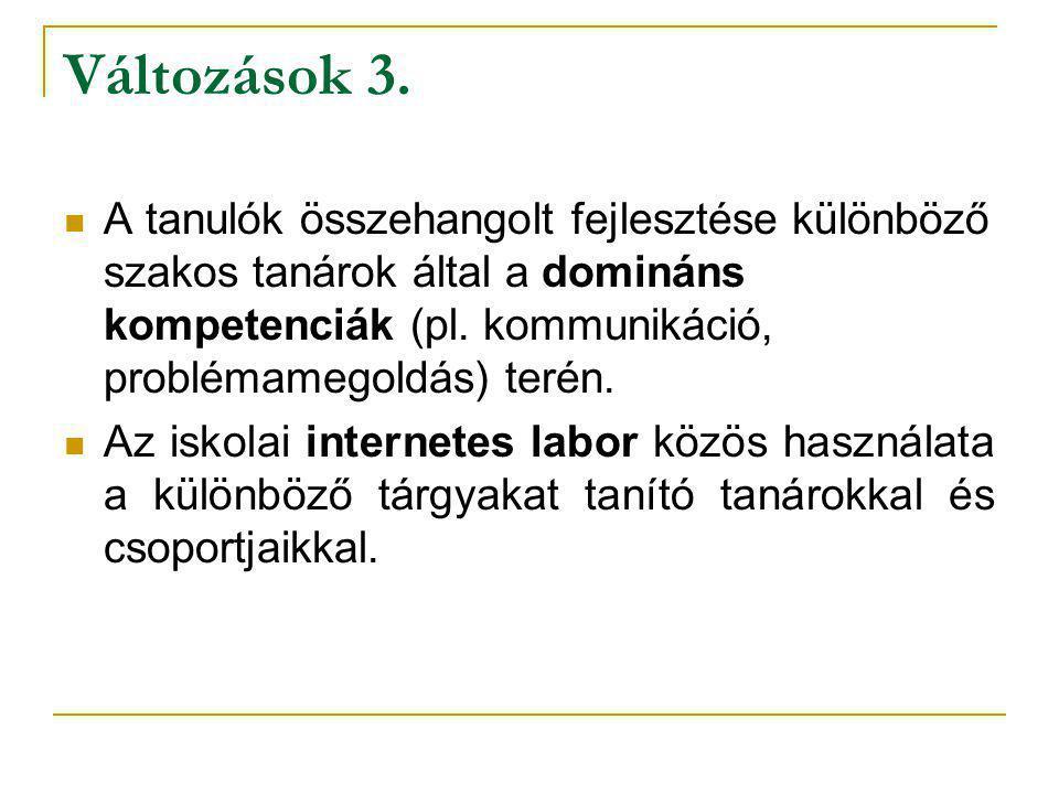 Változások 3.