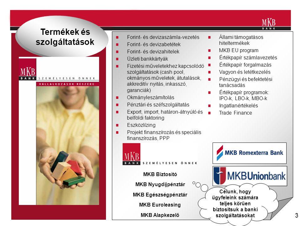 3 Forint- és devizaszámla-vezetés Forint- és devizabetétek Forint- és devizahitelek Üzleti bankkártyák Fizetési műveletekhez kapcsolódó szolgáltatások