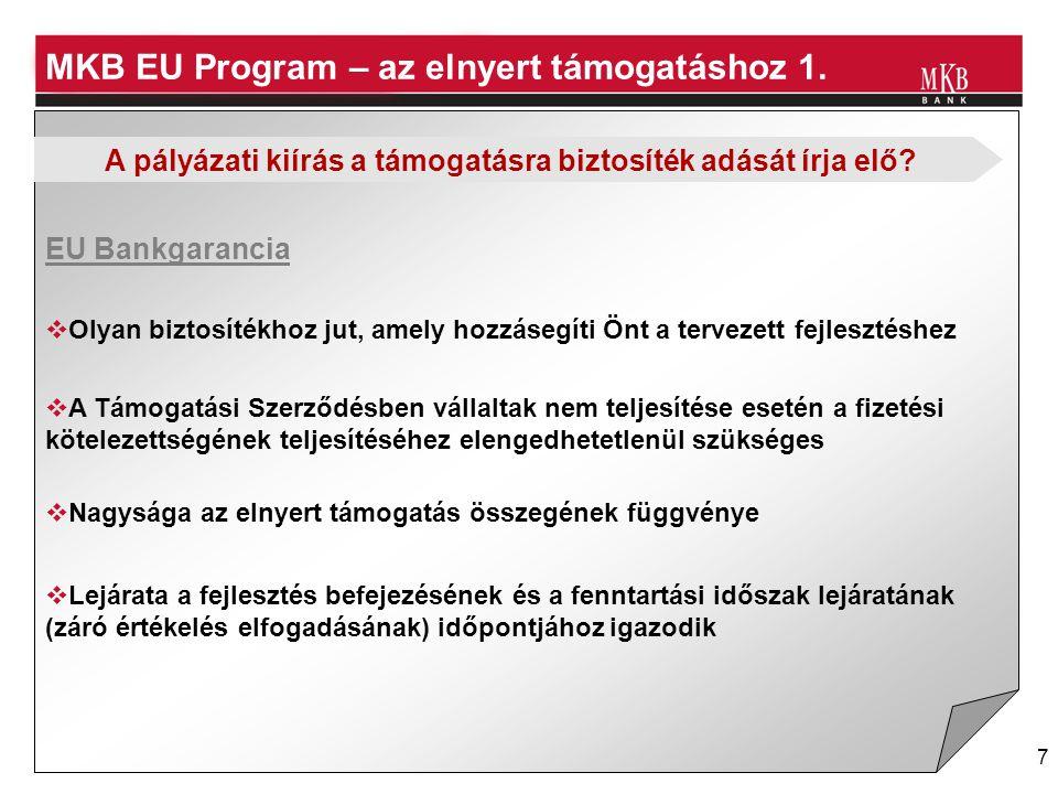 8 MKB EU Program – az elnyert támogatáshoz 2.