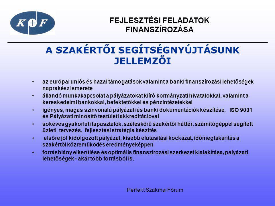 FEJLESZTÉSI FELADATOK FINANSZÍROZÁSA A SZAKÉRTŐI SEGÍTSÉGNYÚJTÁSUNK JELLEMZŐI az európai uniós és hazai támogatások valamint a banki finanszírozási le