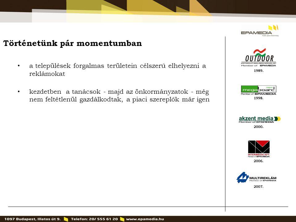 1989. 2000. 1998. 2007. 2006. Történetünk pár momentumban a települések forgalmas területein célszerű elhelyezni a reklámokat kezdetben a tanácsok - m