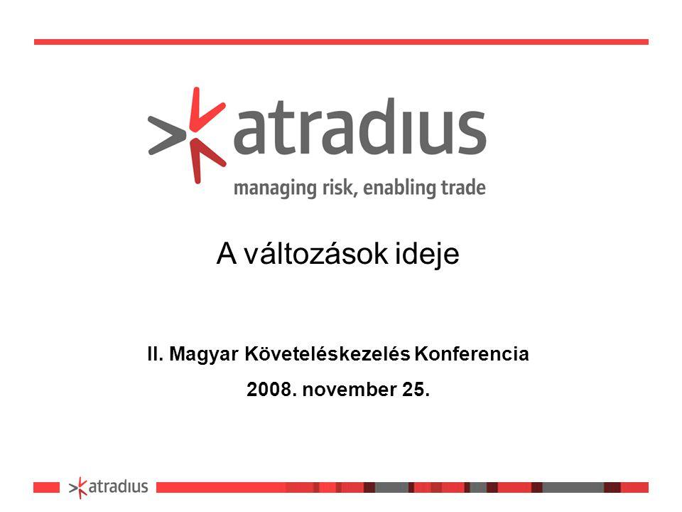 A változások ideje II. Magyar Követeléskezelés Konferencia 2008. november 25.