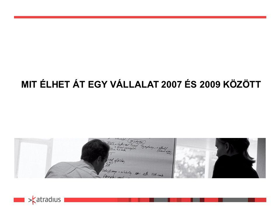 MIT ÉLHET ÁT EGY VÁLLALAT 2007 ÉS 2009 KÖZÖTT
