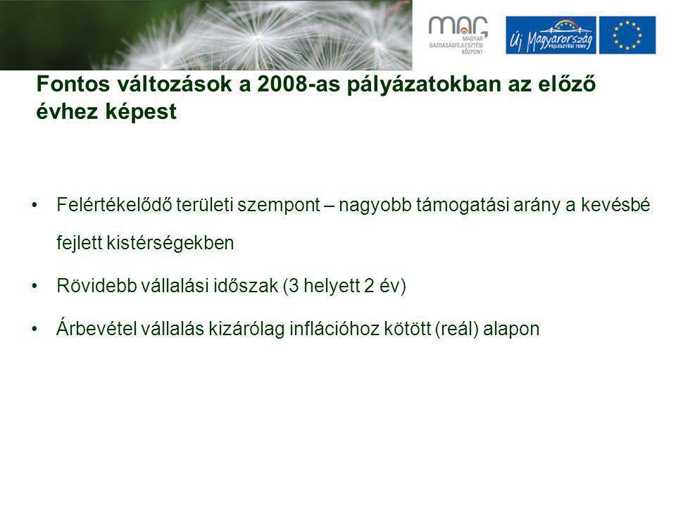 Aktuális pályázatok PályázatBeadásTámogatás Mikro- és kisvállalkozások technológia fejlesztése (GOP-2008-2.1.1/A)04.04-12.311-20 M Környezetközpontú technológia fejlesztés (GOP-2008-2.1.4, KMOP- 2008-1.2.4) 07.25-12.155-50M Vállalati innováció támogatása (GOP-2008-1.3.1, KMOP-2008-1.1.1)08.15-10.1315-250M Komplex technológiai beruházás a hátrányos helyzetű kistérségekben induló vállalkozások részére (GOP-2008-2.1.2/D, KMOP-2008-1.2.2) 05.05-12.0110-500 M E-kereskedelem és egyéb e-szolgáltatások támogatása (GOP-2008-2.2.3)05.05-12.313-20M Vállalati kutatás-fejlesztési kapacitás erősítése (GOP-2008-1.3.2, KMOP-2008-1.1.5) 08.15-12.01200-1500M Kutatás-fejlesztési központok fejlesztése, megerősítése (GOP-2008- 1.1.2.) 07.25-12.01400-1000M Innovációs és technológiai parkok támogatása (GOP-2008-1.2.2, KMOP-2008-1.1.3/B) 08.15-12-011 – 5 Mrd Logisztikai központok és szolgáltatások fejlesztése (GOP-2008-3.2.1)2008.12.31.50-750M