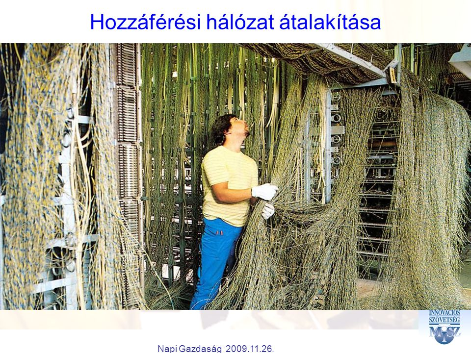 Napi Gazdaság 2009.11.26. Hozzáférési hálózat átalakítása