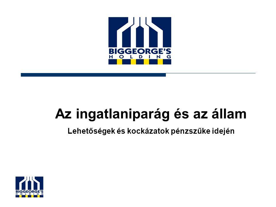12 Gazdasági szolgáltatások a foglalkoztatásban (ennek ~20%-a lehet ingatlaniparhoz kapcsolódó) Forrás: KSH
