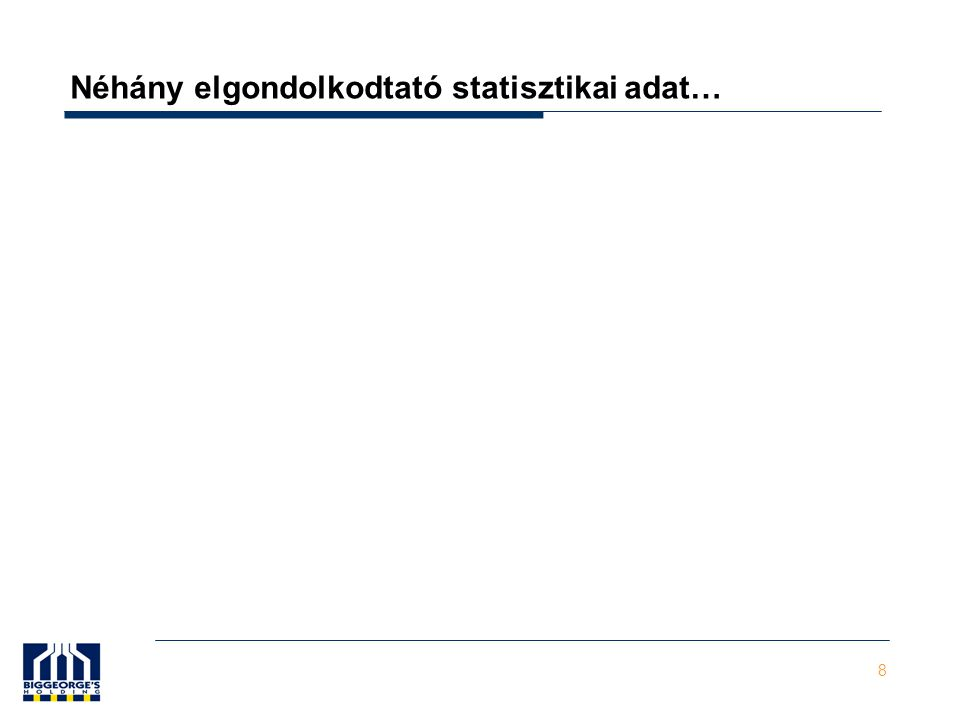 9 Építőipar részesedése a GDP-ből (ennek 34%-a piaci alapú épületépítés - ingatlaniparág ) Forrás: KSH