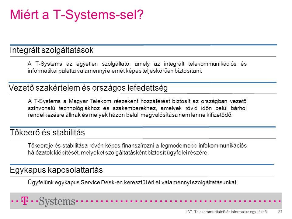 ICT.Telekommunikáció és informatika egy kézből23 Miért a T-Systems-sel.