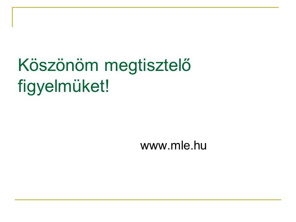 Köszönöm megtisztelő figyelmüket! www.mle.hu