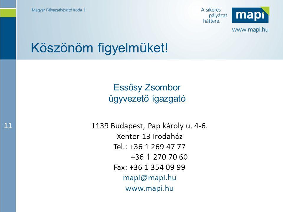 11 Köszönöm figyelmüket! 1139 Budapest, Pap károly u. 4-6. Xenter 13 Irodaház Tel.: +36 1 269 47 77 +36 1 270 70 60 Fax: +36 1 354 09 99 mapi@mapi.hu