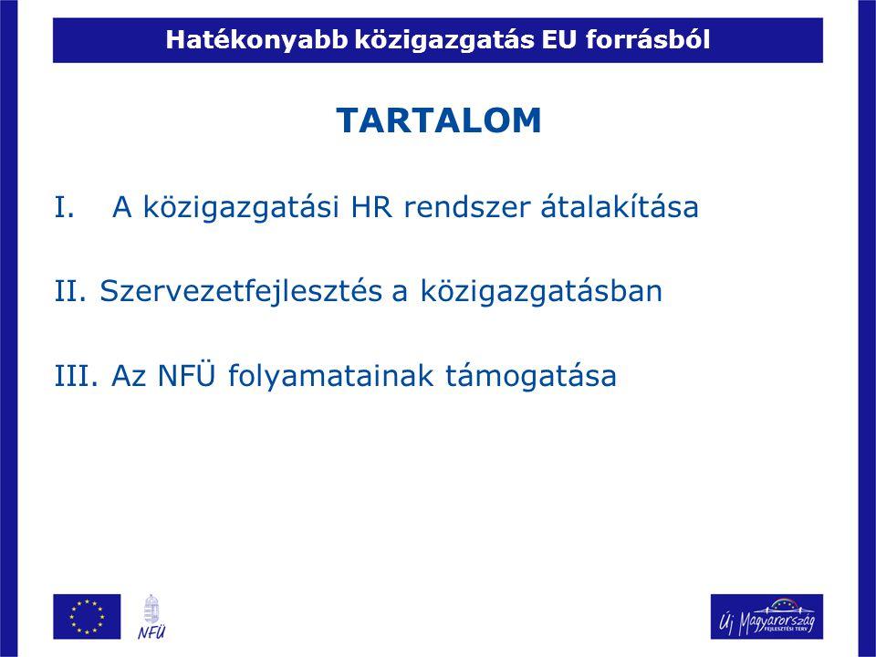 I.HR rendszer átalakítása Az Államreform Operatív Program 2.