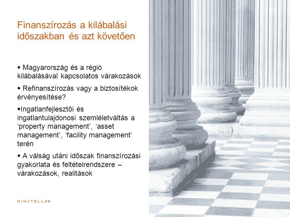 Finanszírozás a kilábalási időszakban és azt követően  Magyarország és a régió kilábalásával kapcsolatos várakozások  Refinanszírozás vagy a biztosí