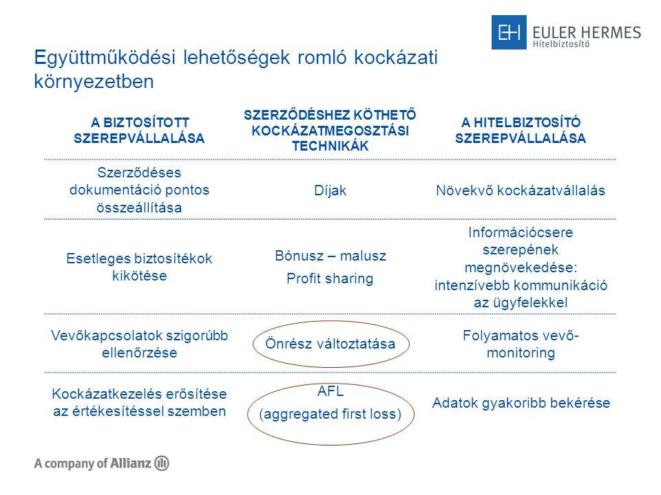 Egyéb technikák a hitelbiztosítás kiegészítésére Top-up cover Egyéb biztosítékok: 1.jelzálog és egyéb zálogjogok 2.kezesség 3.bankgarancia 4.vételi jogok kikötése