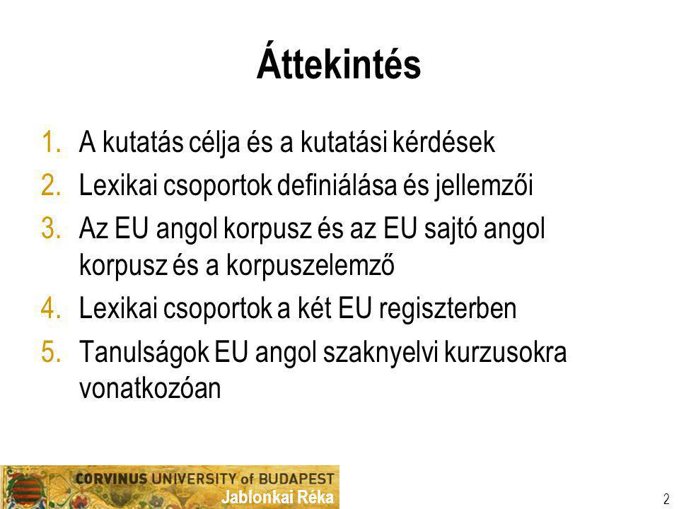 Jablonkai Réka Köszönöm a figyelmet! rjr@uni-corvinus.hu 23