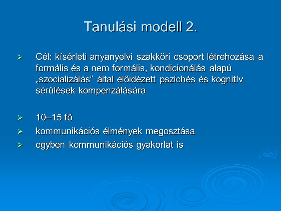 Tanulási modell 2.