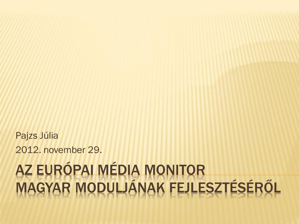 Pajzs Júlia 2012. november 29.