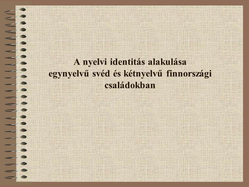 A nyelvi identitás alakulása egynyelvű svéd és kétnyelvű finnországi családokban