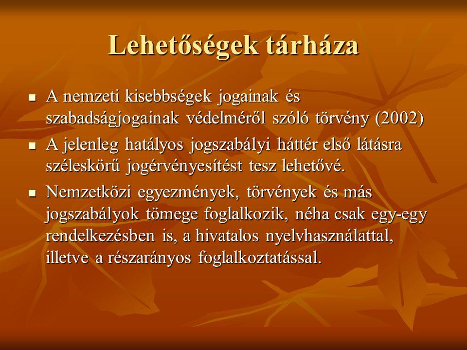 Az eljárás nyelve VSZAT nyelvhasználati törvénye értelmében az eljárás párhuzamosan több nyelven történhetett.