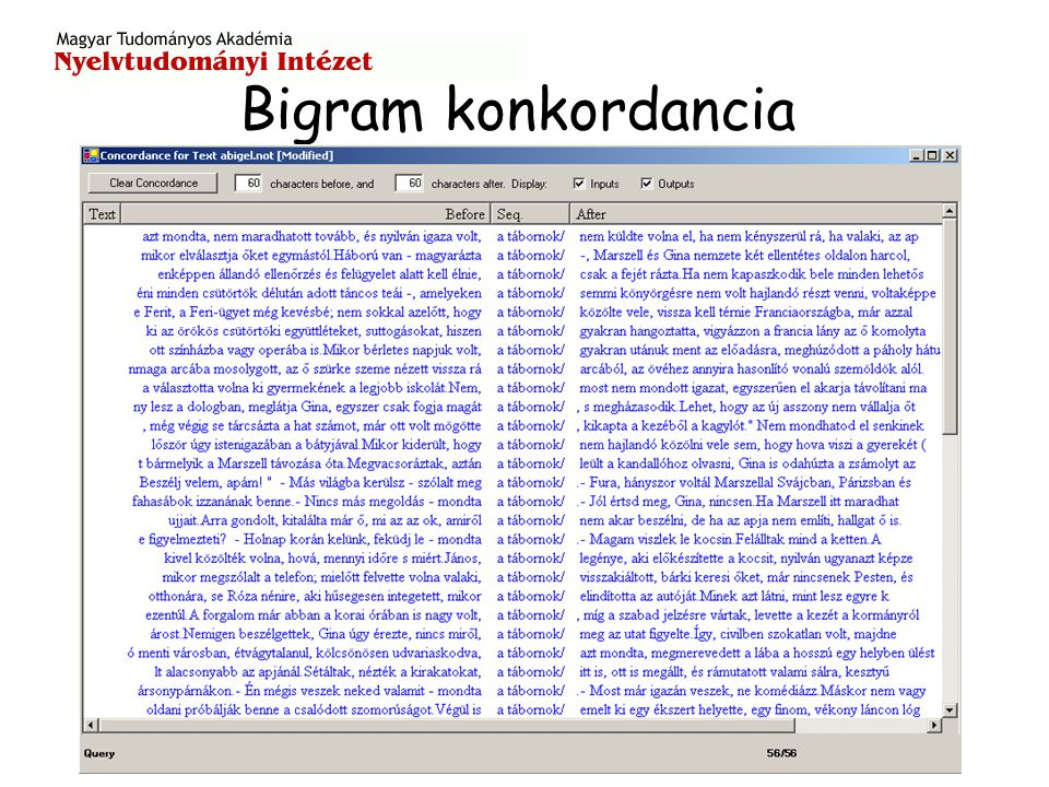 Bigram konkordancia
