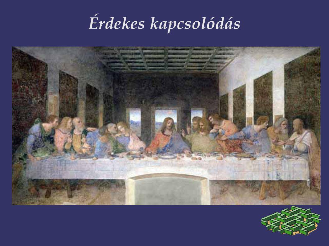 Érdekes kapcsolódás Összefüggés az Utolsó vacsorával (A da Vinci-kapcsolat!) 