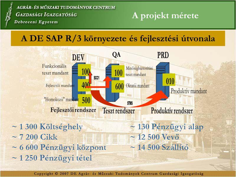A projekt mérete ~ 1 300 Költséghely ~ 7 200 Cikk ~ 6 600 Pénzügyi központ ~ 1 250 Pénzügyi tétel ~ 130 Pénzügyi alap ~ 12 500 Vevő ~ 14 500 Szállító