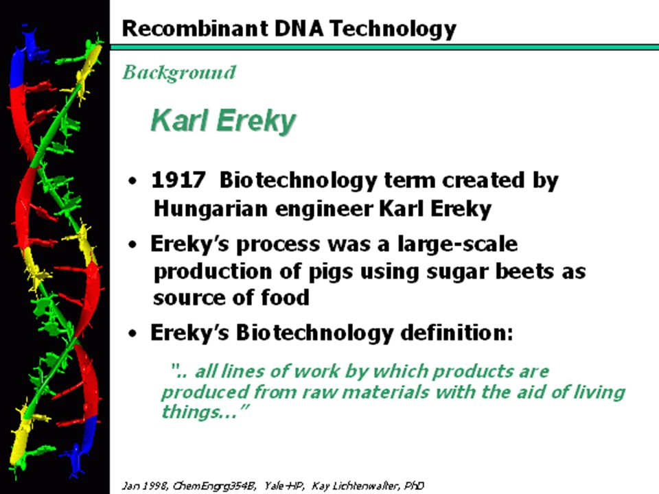 """A BIOTECHNOLOGIA UTTÖRŐI 1 4th International Symposium on In Vitro Culture and Horticultural Breeding, 2-7 July, 2000, Tampere, Finland - ISHS Károly Ereky A """"biotechnológia fogalom apja Raoul H."""