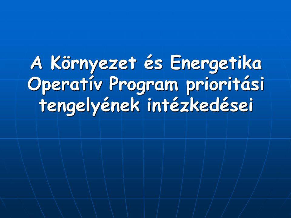 A Környezet és Energetika Operatív Program prioritási tengelyének intézkedései