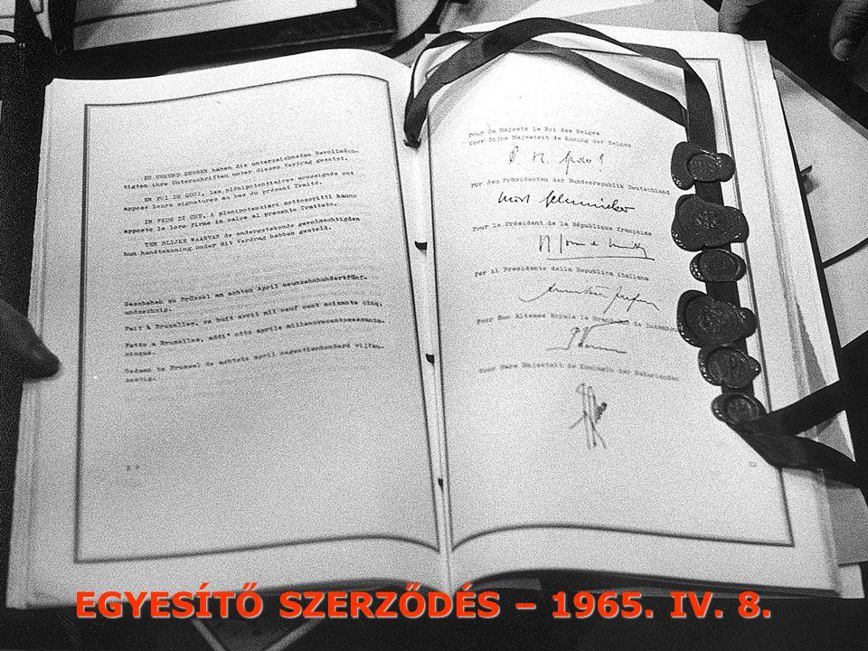 EGYESÍTŐ SZERZŐDÉS – 1965. IV. 8.