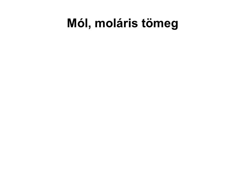 Mól, moláris tömeg