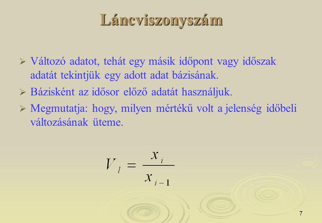 18 Egyenes és fordított intenzitási viszonyszám: (sűrűség mutatók, koordinációs viszonyszám), pl.