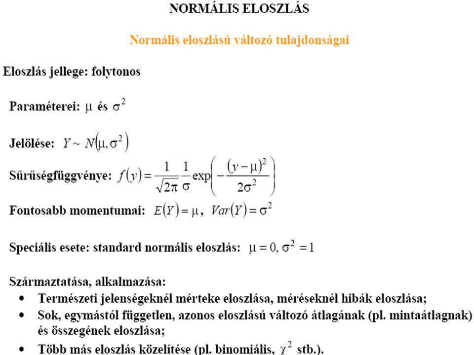 7.6.példa A félliteres zacskós tejet automata csomagolja.