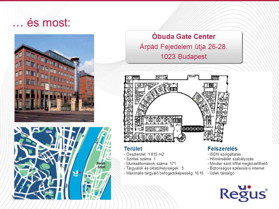… és most: Óbuda Gate Center Árpád Fejedelem útja 26-28.