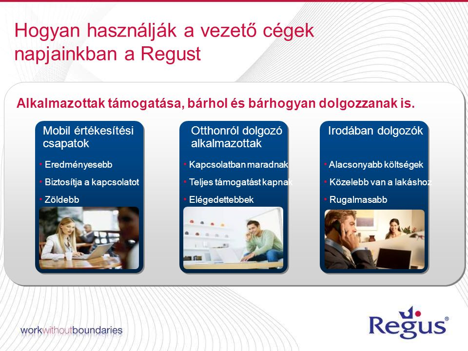 Hogyan használják a vezető cégek napjainkban a Regust Alkalmazottak támogatása, bárhol és bárhogyan dolgozzanak is.
