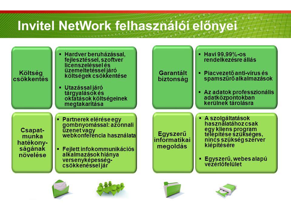 7 Organic growth  Partnerek elérése egy gombnyomással: azonnali üzenet vagy webkonferencia használata  Fejlett infokommunikációs alkalmazások hiánya