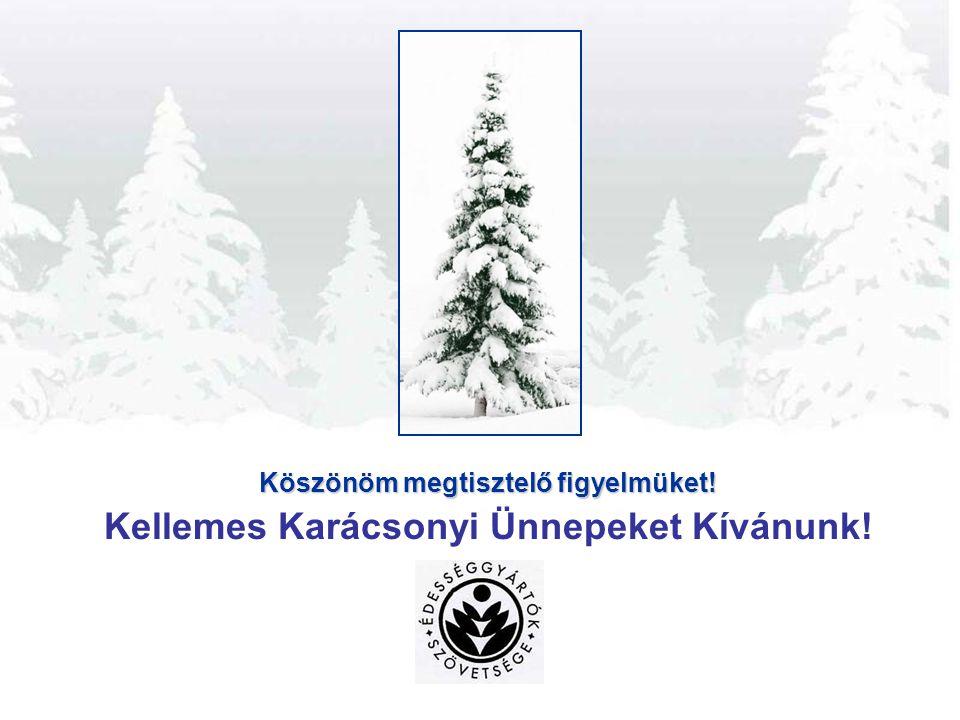 Köszönöm megtisztelő figyelmüket! Kellemes Karácsonyi Ünnepeket Kívánunk!