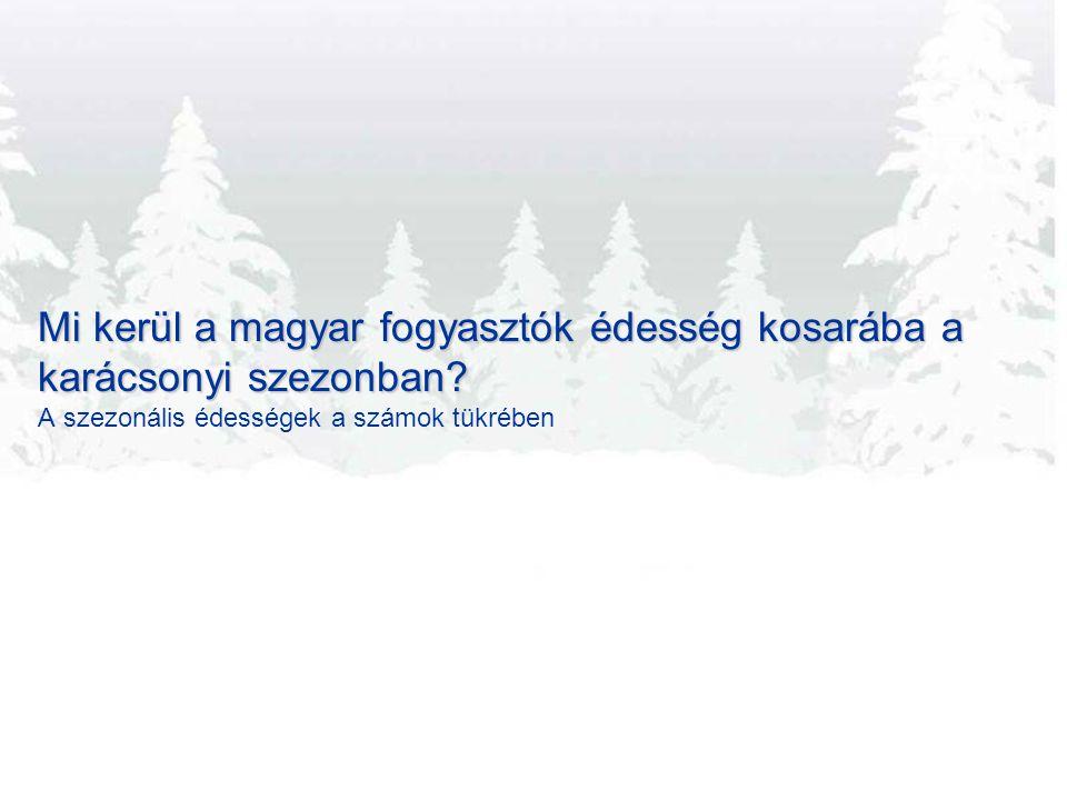 Mi kerül a magyar fogyasztók édesség kosarába a karácsonyi szezonban.
