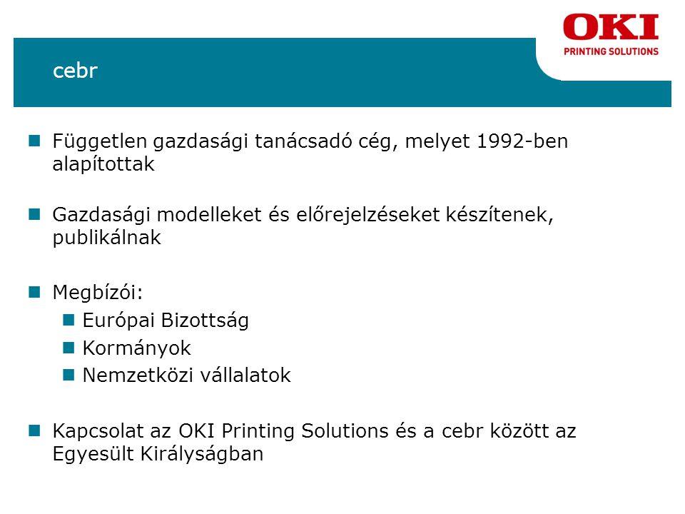 Házon belüli nyomtatási költségek Magyarországon Papírköltségek= 37 595 millió forint Nyomtatók kellékanyagainak költségei= 92 157 millió forint Ez a tinta, a festékkazetta és a nyomtatók egyéb kellékanyagainak költségeiből tevődik össze.