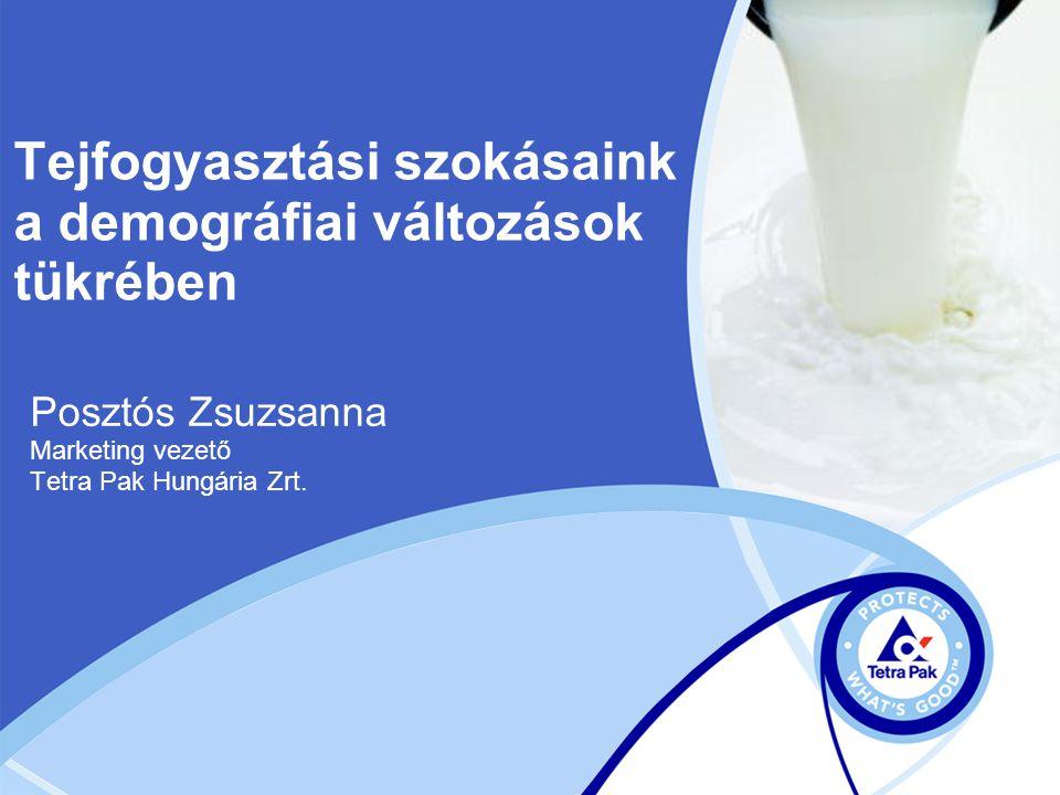 Tejfogyasztási szokásaink a demográfiai változások tükrében Posztós Zsuzsanna Marketing vezető Tetra Pak Hungária Zrt.