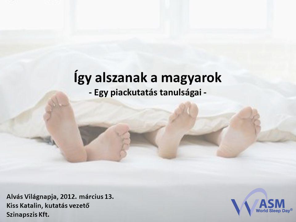 Alvás Világnapja, 2012. március 13. Kiss Katalin, kutatás vezető Szinapszis Kft.