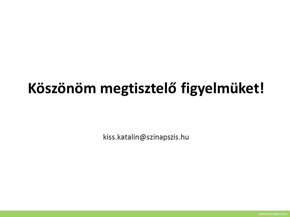 Köszönöm megtisztelő figyelmüket! kiss.katalin@szinapszis.hu