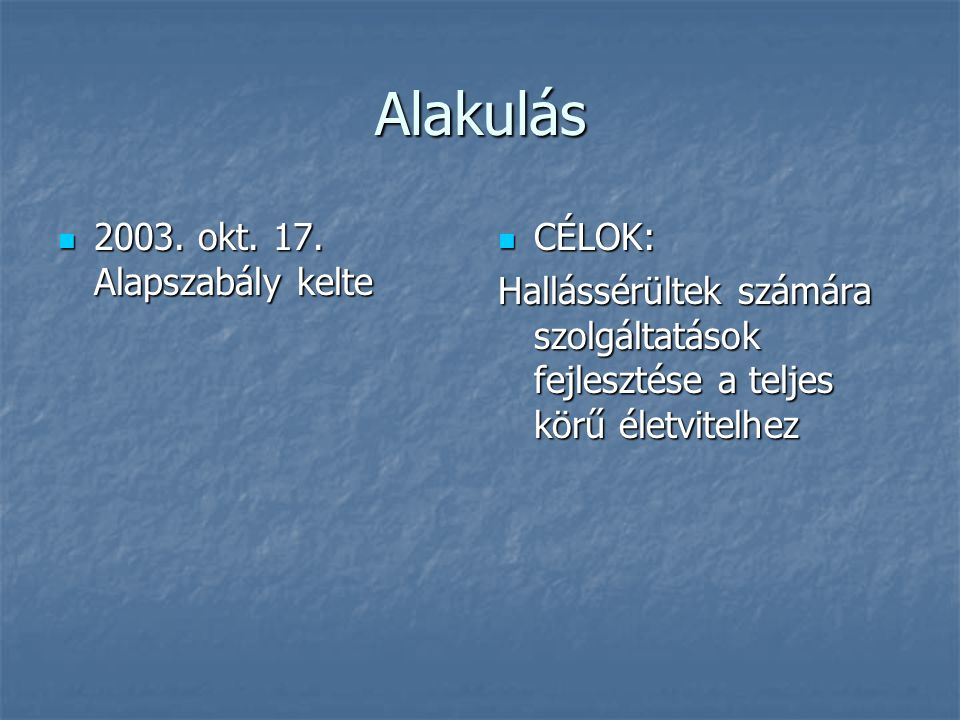Korábbi programok 2003.dec. 14.