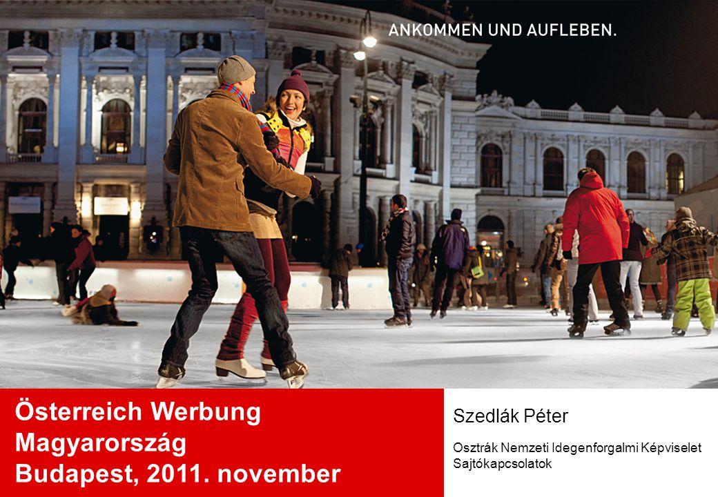 A magyar üdülővendégek száma Ausztriában Vendégéjszakák 2010-ben: 1.510.379 (+0,7 % az előző évhez Vendégérkezések 2010-ben: 442.245 (+3,7 % az előző évhez képest) A tartózkodás átlagos ideje: 3,4 nap