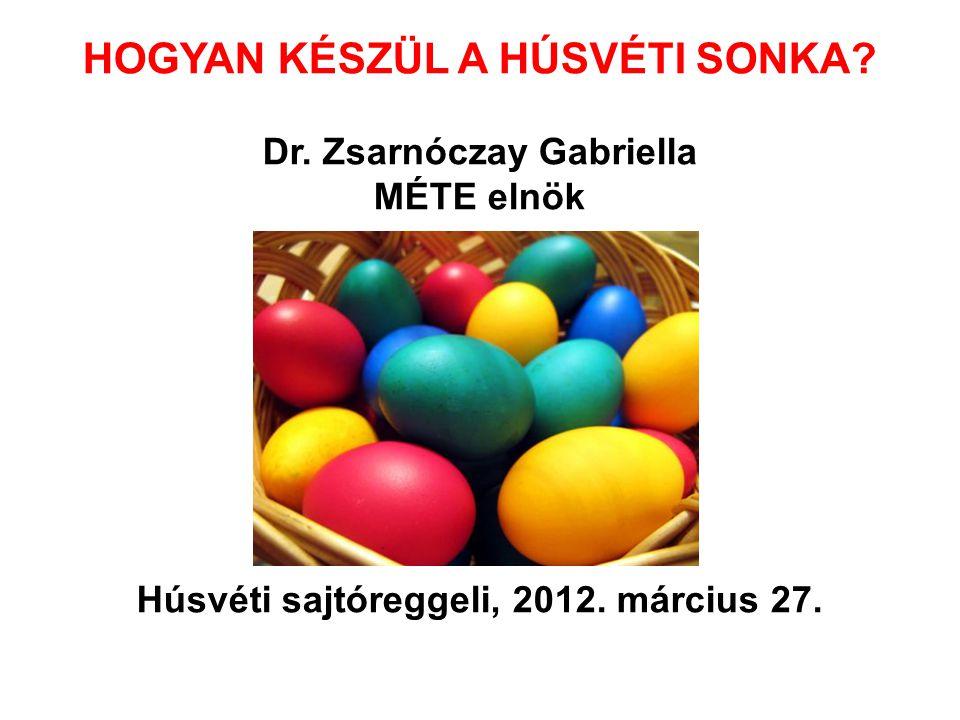 HOGYAN KÉSZÜL A HÚSVÉTI SONKA? Dr. Zsarnóczay Gabriella MÉTE elnök Húsvéti sajtóreggeli, 2012. március 27.