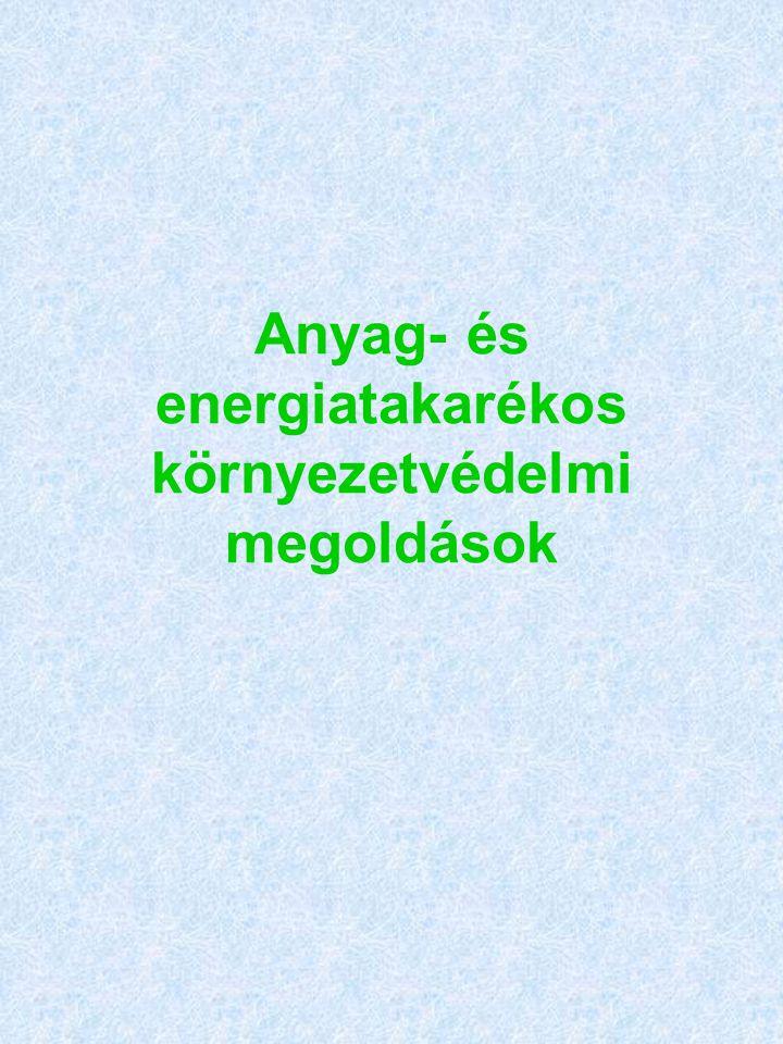 Anyag- és energiatakarékos környezetvédelmi megoldások